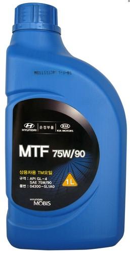 Масло трансм. Hyundai MTF SAE 75W / 90 GL-4 1L 04300-5L1A0
