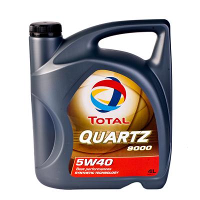 Масло моторное синтетическое Total QUARTZ 9000 5W40, 4л 148597