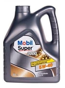 Масло моторное синтетика, Mobil Super 3000 X1 5W40, 4л 150013