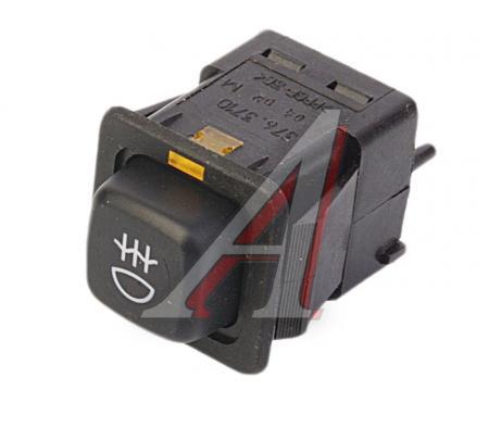 Выключатель противотуманных фонарей с внутренней подсветкой 376.3710-04.02 ВАЗ 21093, ВАЗ 21099, Напряжение 12В 376.3710-04.02