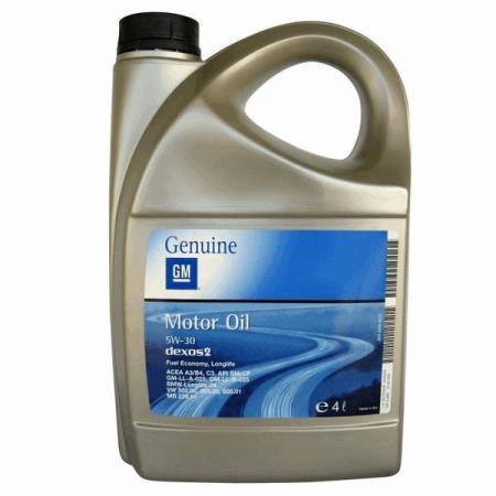 Моторное масло GM Dexos2 SAE 5W-30 (4л) синтетическое, 1942002