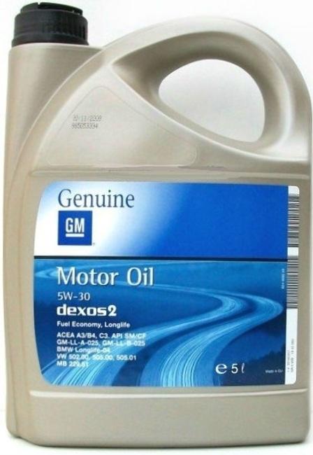 масло Dexos2, 5 L, 5W-30 1942003