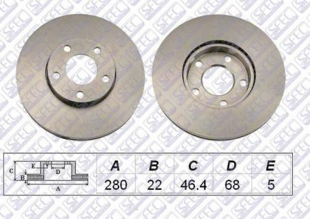 Диск тормозной передний AUDI / VW A4 / Passat 1.6-3.0 95-(вент) BD000851