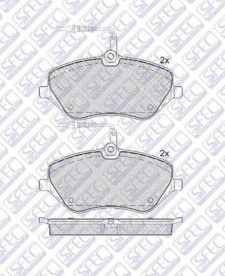 Тормозные дисковые колодки BP901891