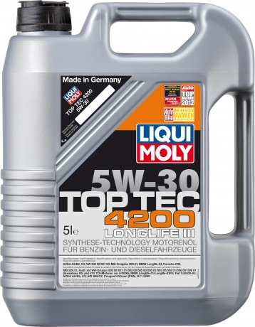 Масло моторное синтетическое LIQUI MOLY Top Tec 4200 5W30, 5л 7661