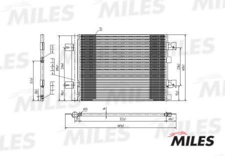 Радиатор кондиционера (RENAULT LOGAN 1.4-1.6 / 1.5TD 04-) ACCB001 ACCB001