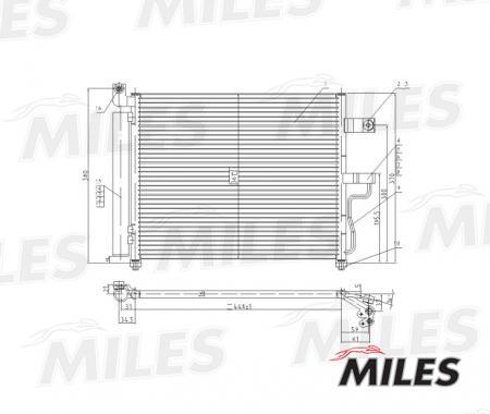 Радиатор кондиционера (HYUNDAI ACCENT 1.3 / 1.5 00-) ACCB006 ACCB006