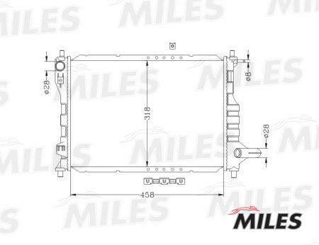 Радиатор (GM MATIZ / SPARK 0.8 / 1.0 M / T 05- ) ACRB047 ACRB047