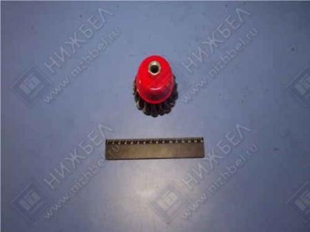 Щетка для УШМ 75 мм М 14 чашка крученая металлическая проволока MATRIX 74624