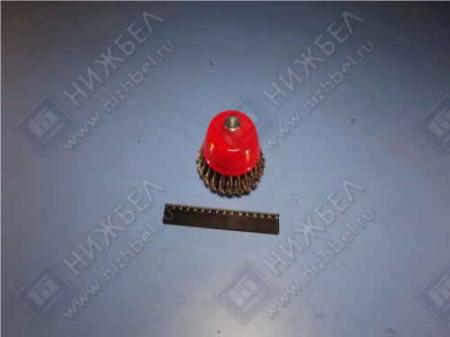 Щетка для УШМ 100 мм М 14 чашка крученая металлическая проволока MATRIX 74628