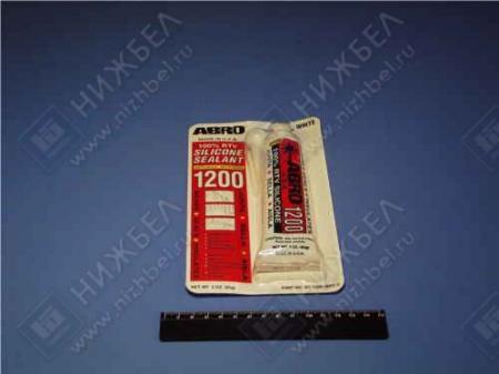 Герметик силиконовый ABRO белый (85г) SSW-1200