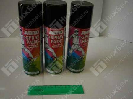 Краска-спрей АBRO черная глянцевая (473мл) 11R