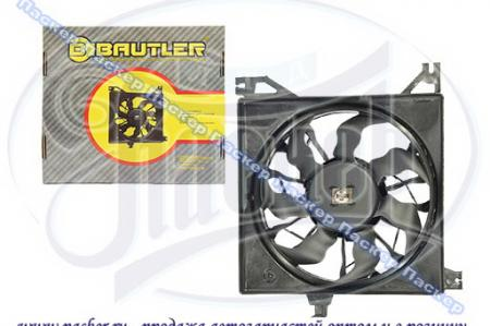 Электровентилятор радиатора охлаждения (электродвигатель с крыльчаткой в сборе, на подшипнике) ВАЗ 2190-2192 Granta в сборе с кожухом BAUTLER BTL-0090FCC BTL-0090FCC