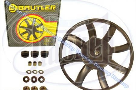 Мотор вентилятора 1118 Калина, 2123 Chevy Niva универсальная BAUTLER с крыльчаткой 8 лопастей BTL0023FC