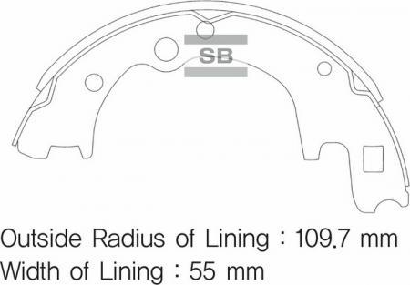комплект колодок тормозных задних SA045