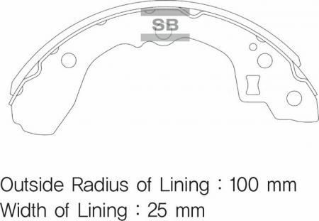 комплект колодок тормозных задних SA052