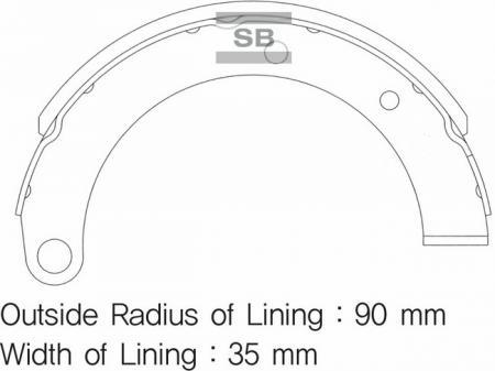 комплект колодок тормозных задних SA121