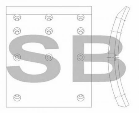 комплект колодок торм. (AERO CITY) (F1) SL014 SL014