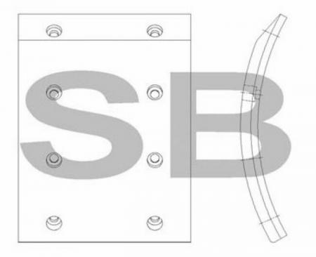 комплект колодок торм. (GRANBIRD) (F) SL022 SL022