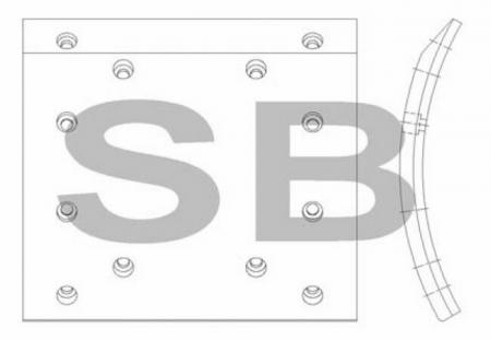 комплект колодок торм. (GRANBIRD) (R) SL023 SL023