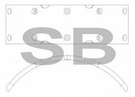 комплект колодок торм. (HD-65) SL053 SL053
