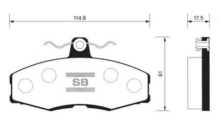 Колодки тормозные HYUNDAI EXCEL 87-89 передние SP1028