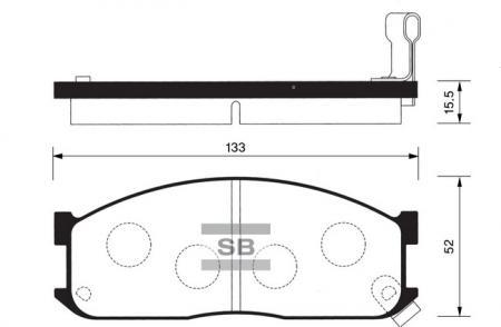 Колодки тормозные KIA BESTA 2.2 передние SP1044