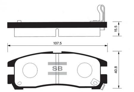 HI-Q SP1046-R Колодки тормозные задние Galant / Space Runner SP1046R