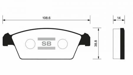 Колодки тормозные DAEWOO TICO передние SP1050
