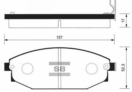 Колодки тормозные HYUNDAI GALLOPER передние SP1053