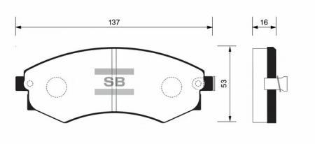 Колодки тормозные HYUNDAI SANTAMO передние SP1054F