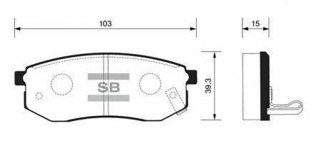 Колодки тормозные HYUNDAI SONATA 94-98 задние SP1054R