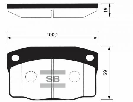 Колодки тормозные передние DAEWOO Nexia до 2000г 1, 5 SANGSIN SP1055 SP1055