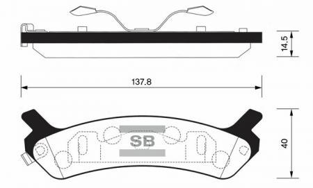 Колодки тормозные HYUNDAI SONATA 89-93 задние SP1058