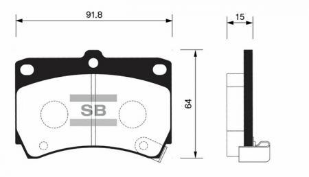 Колодки тормозные передние AVELLA / SEPHIA / SHUMA / SPECTRA SP1067