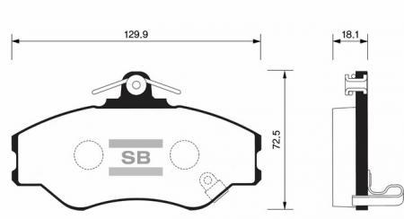 Колодки тормозные SP-1072