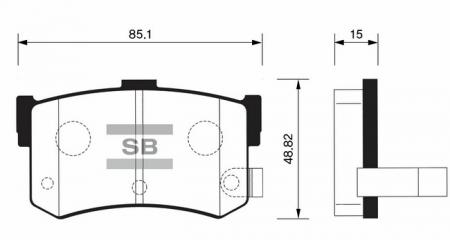 Колодки тормозные HYUNDAI SONATA II-III 93-98 задние диск. SP1074