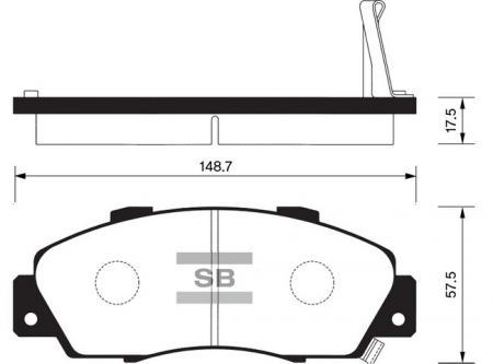 HI-Q SP1076-F Колодки тормозные передние Accord 90-03 Civic 97-01 CRV 02-05HR-V 99- SP1076F