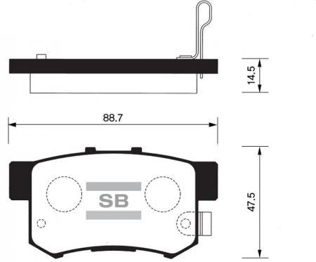 HI-Q SP1076-R Колодки тормозные задние Accord 90- Civic 97- CRV 02-05 Stream 01- SP1076R