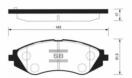 Колодки тормозные SP-1077
