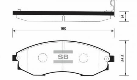 Колодки тормозные SSANGYONG ISTANA передние SP1083