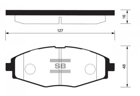 Колодки тормозные передние DAEWOO Nexia c 2000г, Matiz, Lanos, Chevrolet Spark Sangsin SP1086 SP1086