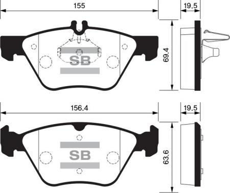 Колодки тормозные SSANGYONG CHAIRMAN 06- передние SP1088