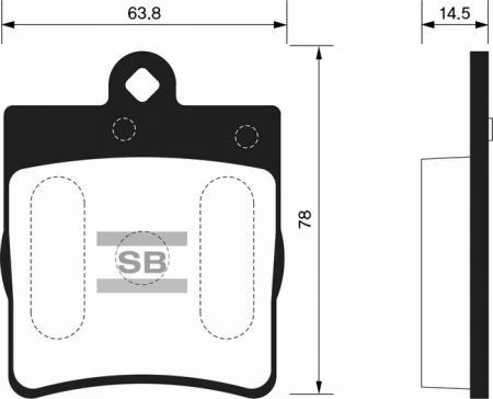 Колодки тормозные SSANGYONG CHAIRMAN 06- задние SP1089