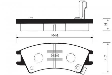 Колодки тормозные HYUNDAI ATOS / ATOS PRIME передние SP1096