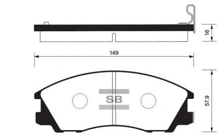 Колодки тормозные SP-1097