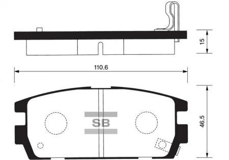 Колодки тормозные задниеHyundai Terracan HP 01- SP1098