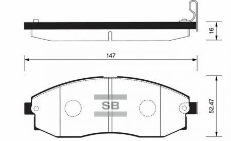Колодки тормозные HYUNDAI H-1 / STAREX передние SP1100