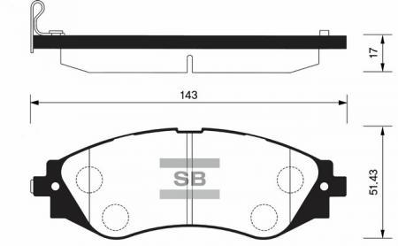 Колодки тормозные передние LEGANZA / EPICA / EVANDA SP1102