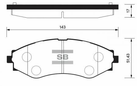 Колодки тормозные SP-1103